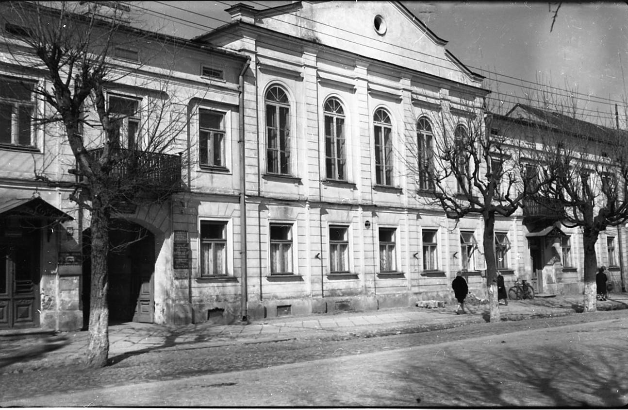 Budynek Sądu Powiatowego w Suwałkach w l. 50. XX w.