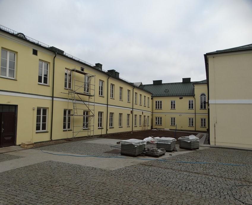 Wykończony dziedziniec Archiwum