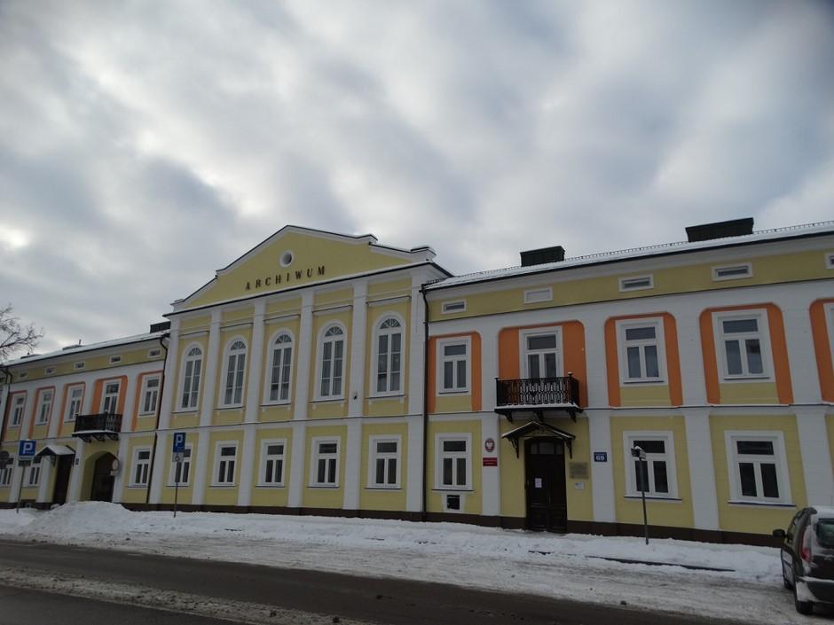 elewacja frontowa (wschodnia) budynku
